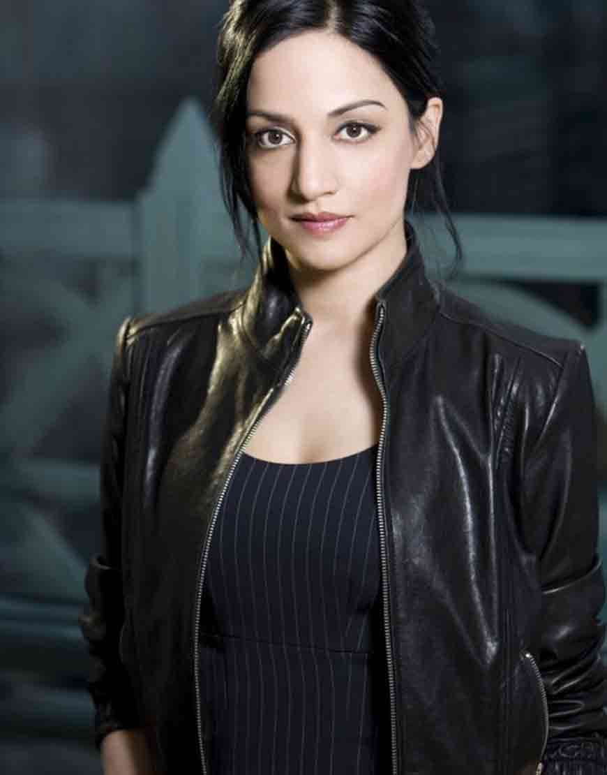 kalinda sharma leather jacket