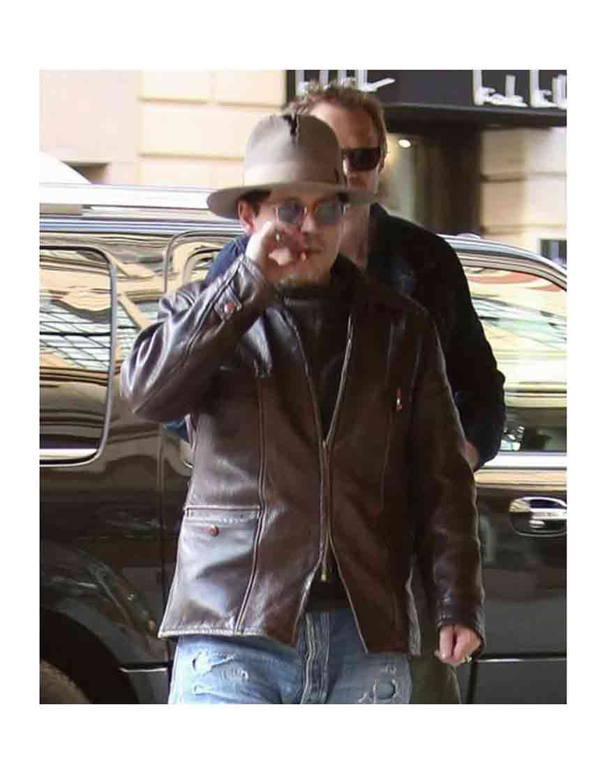 johnny depp mortdecai leather jacket