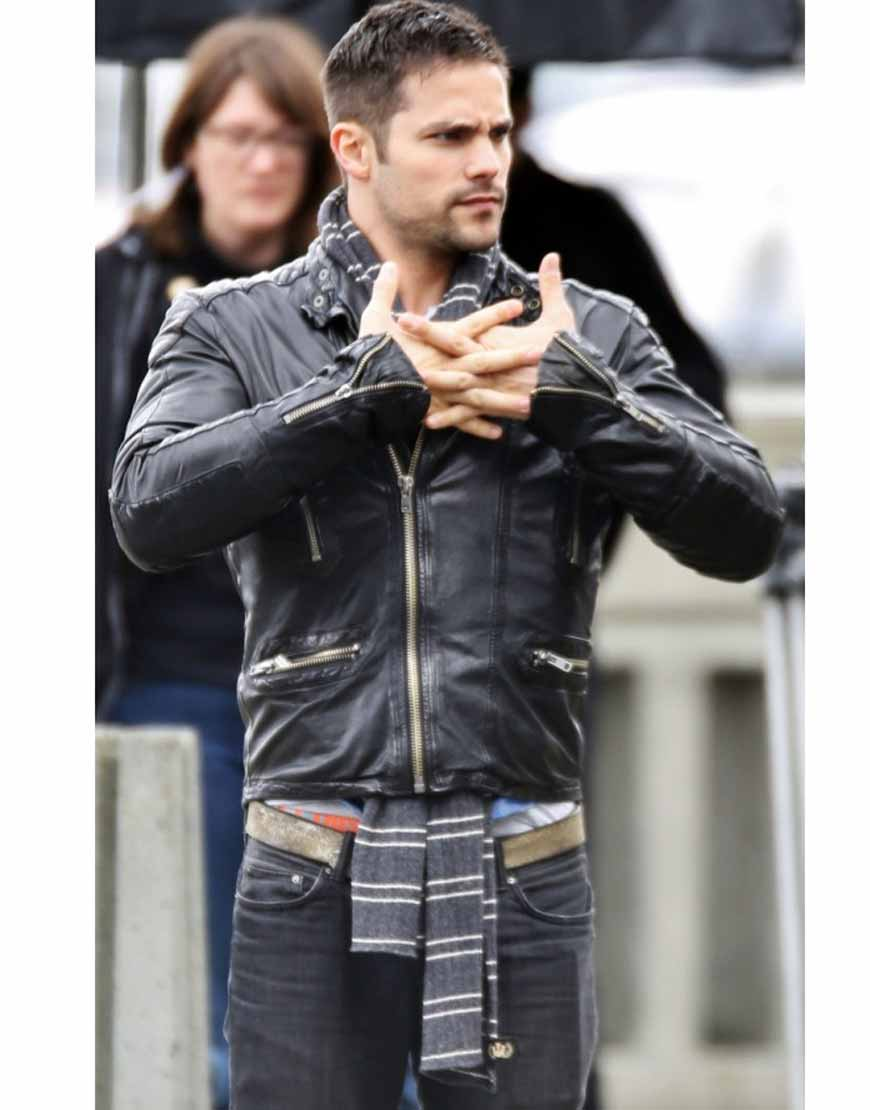 brant daugherty leather jacket