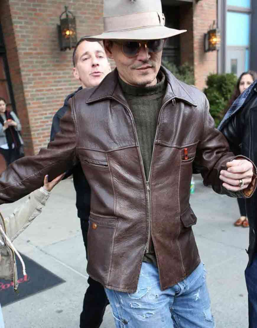 mortdecai johnny depp leather jacket