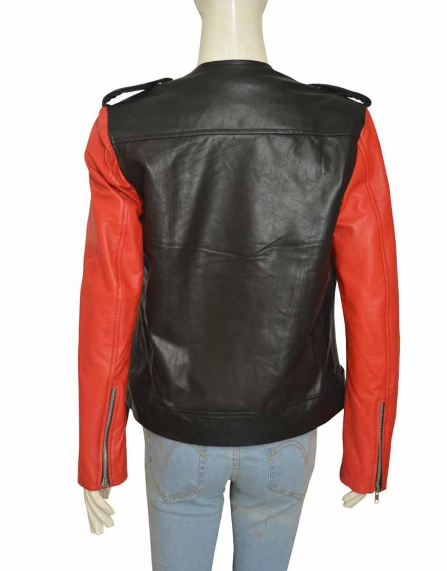 hailey baldwin leather jacket