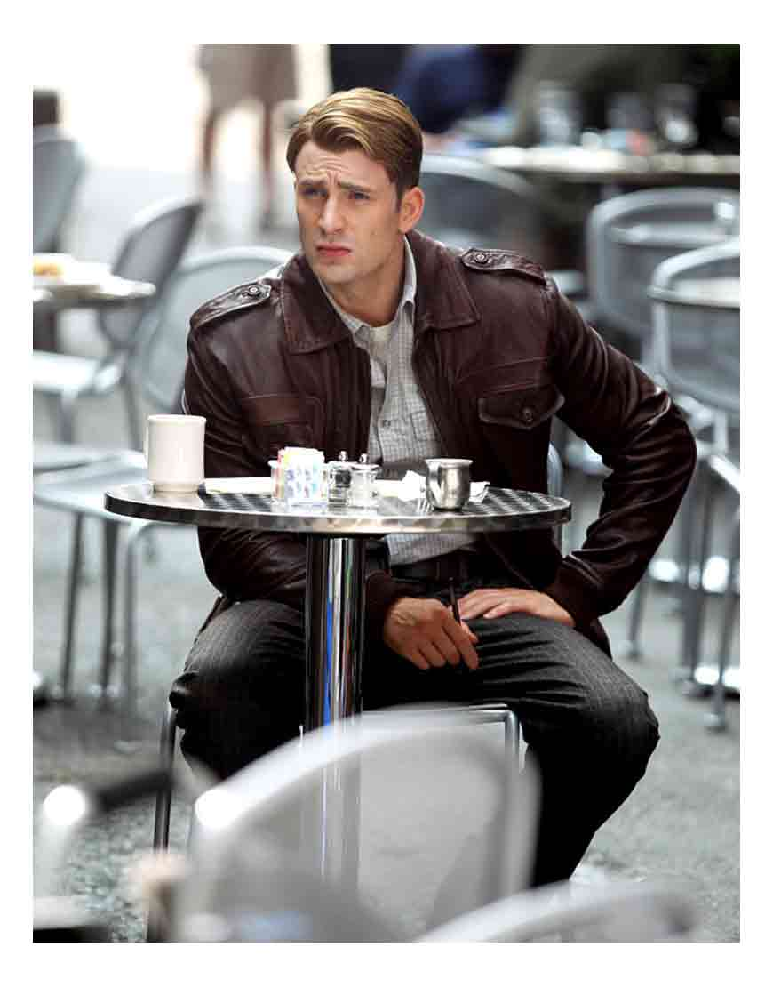 captain america brown jacket