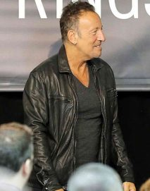 bruce springsteen black leather jacket