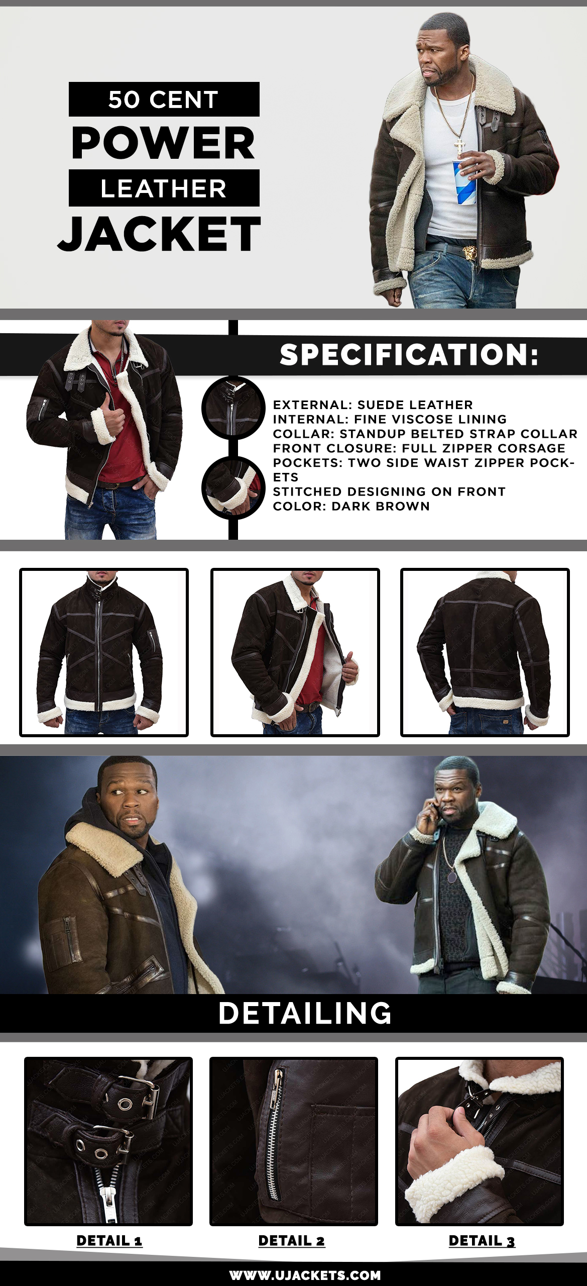 50 Cent Power Shearling Leather Jacket (1)