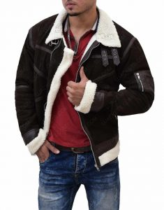 50 Cent Power Shearling Leather Jacket