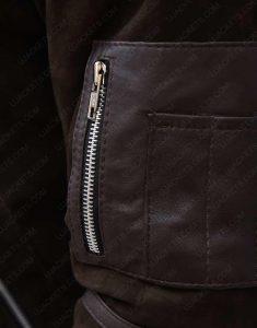 Power Kanan Brown Shealing Leather Jacket