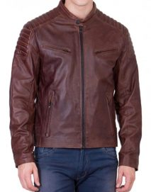 motorcycle brown jacket