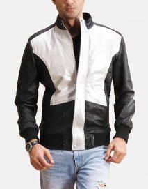 spade silver black bomber jacket