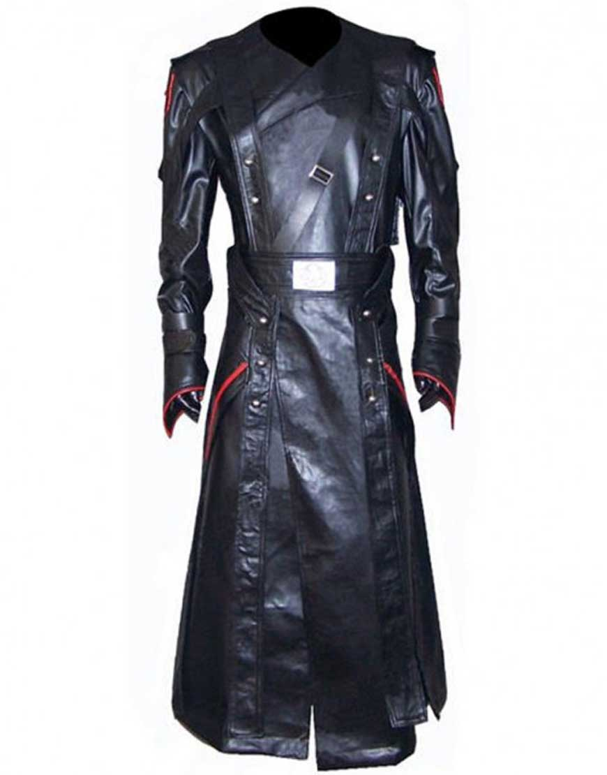 red skull trench coat