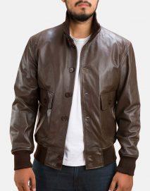 columbus brown bomber jacket