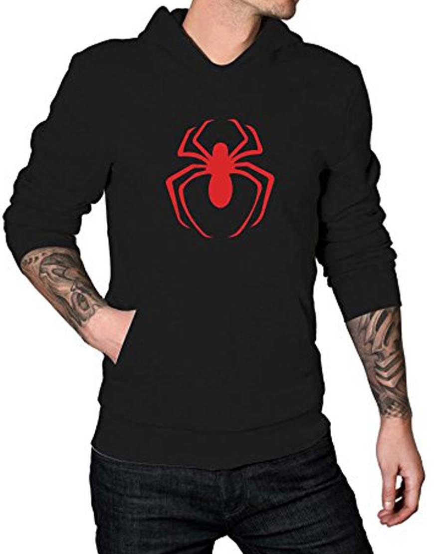 spider man red logo hoodie