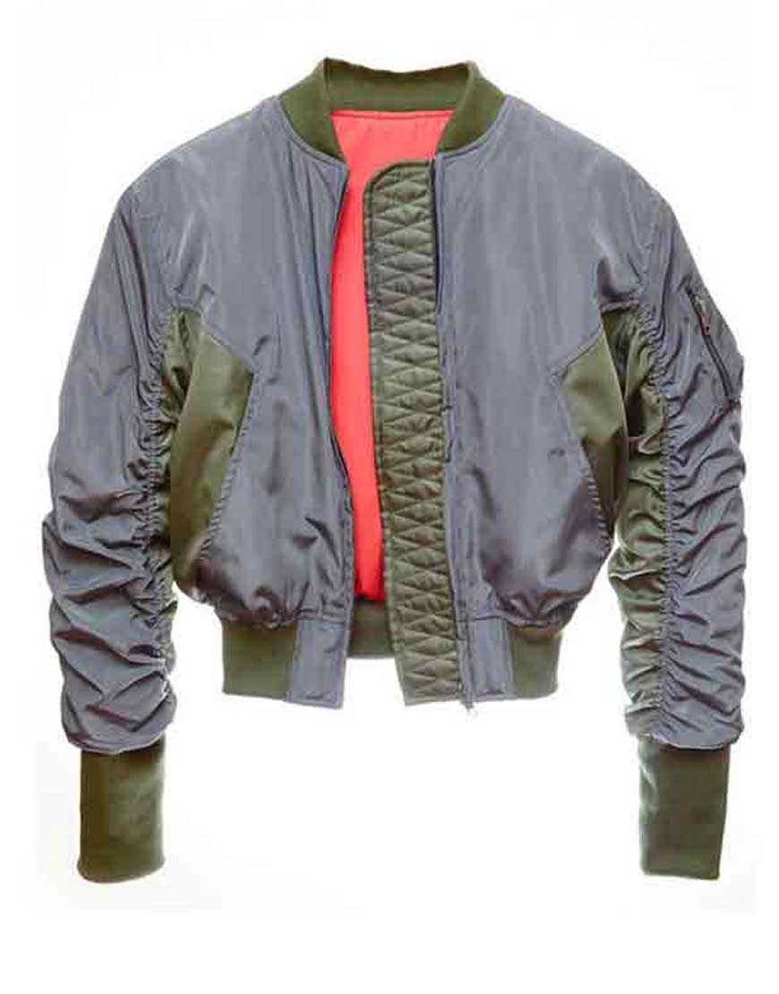scarlett johansson bomber jacket