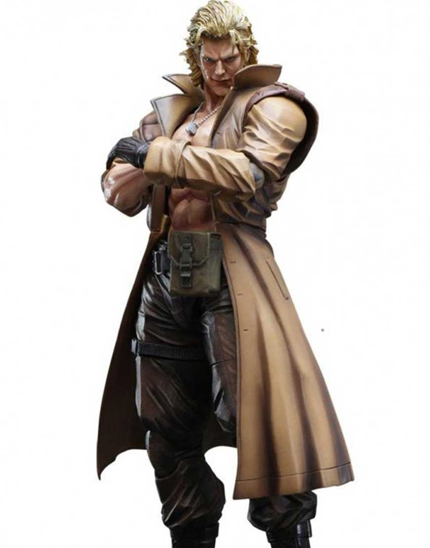 liquid snake leather coat