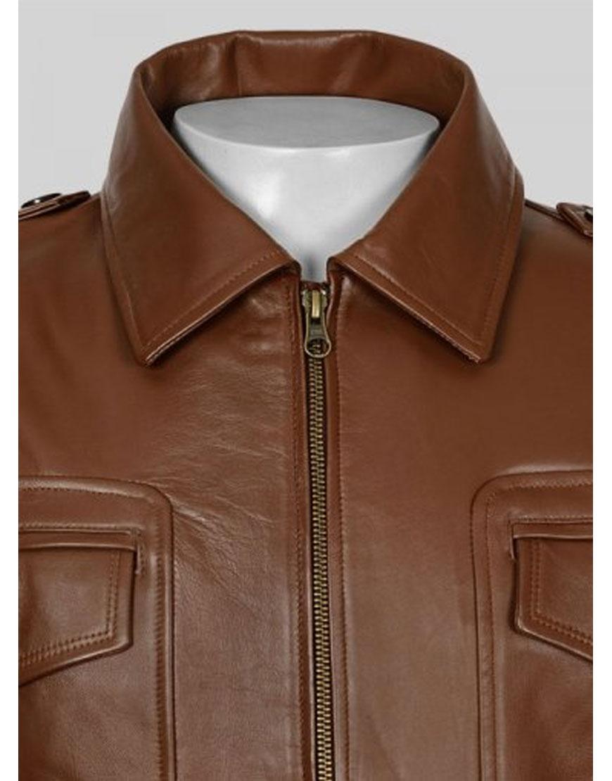 steve rogers brown leather jacket