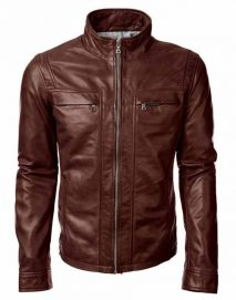 john diggle brown leather jacket
