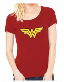 Wonder Woman Red Logo T Shirt