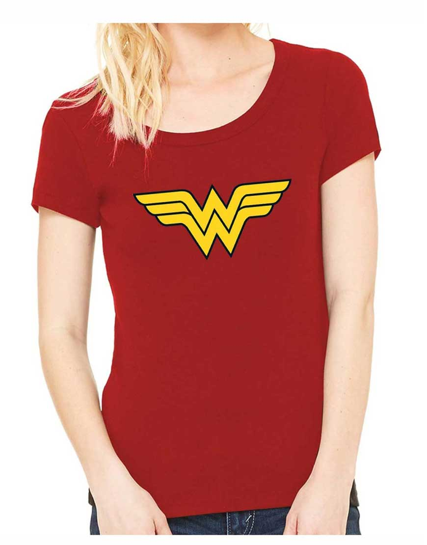 Wonder Woman Red Logo T Shirt