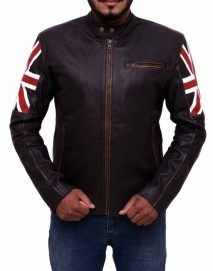 uk flag cafe racer jacket