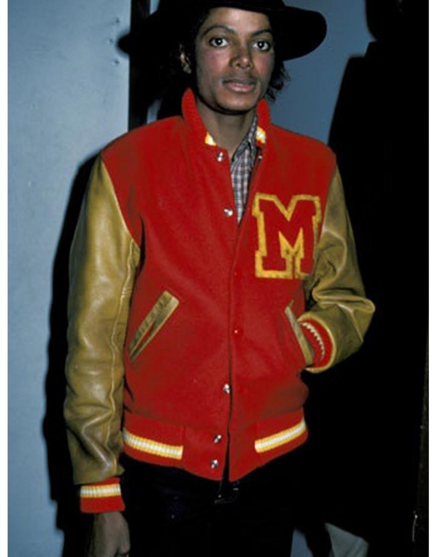 michael jackson varsity jacket