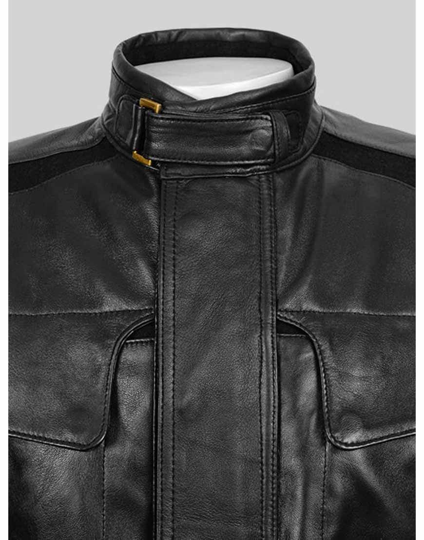 Nick Fury Black Leather Jacket