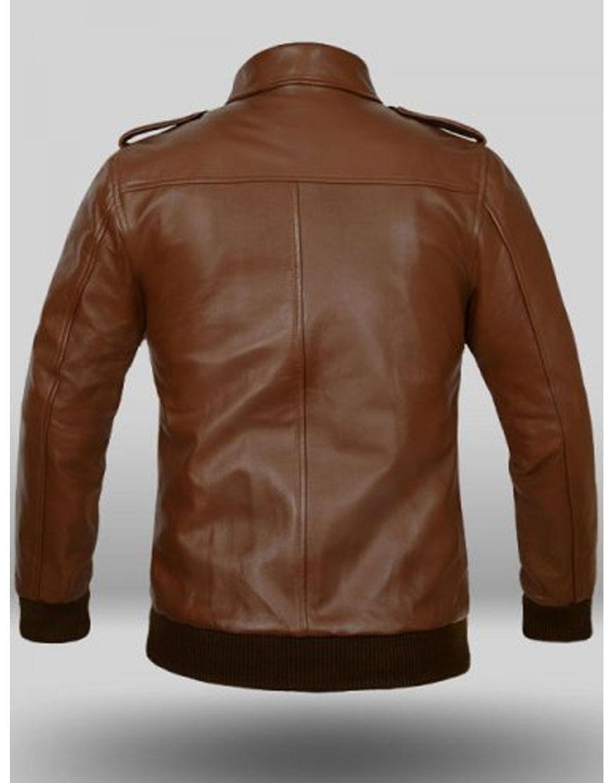 aptain america brown jacket