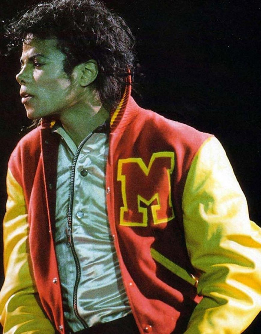 michael jackson thriller letterman jacket