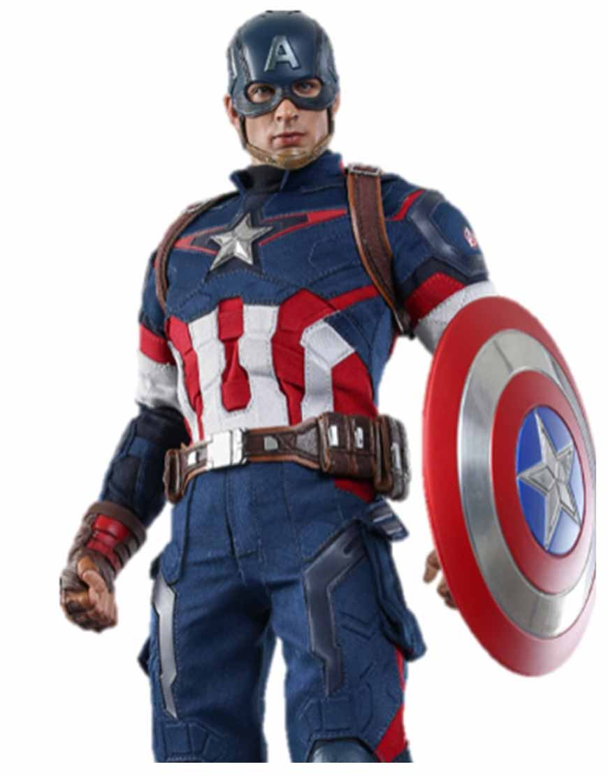 Chris Evans Avengers Age of Ultron Captain America Blue Jacket