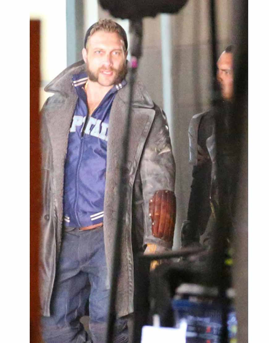 captain boomerang leather jacket