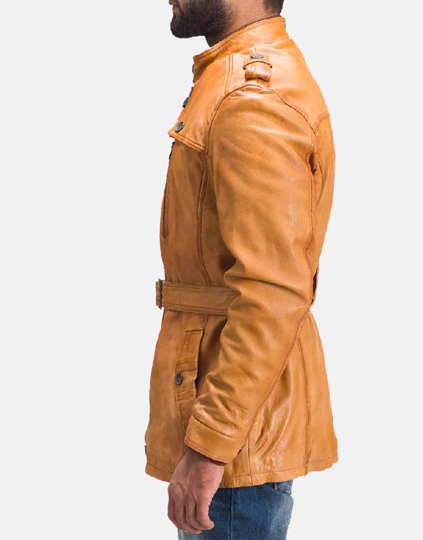 tan brown fur jacket