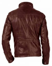 david ramsey arrow brown leather jacket