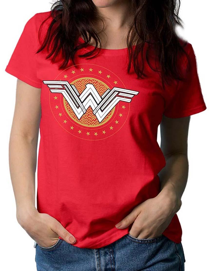 wonder woman star logo t shirt