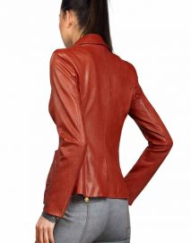 womens red blazer