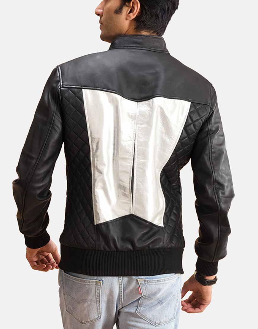 spade silver black jacket