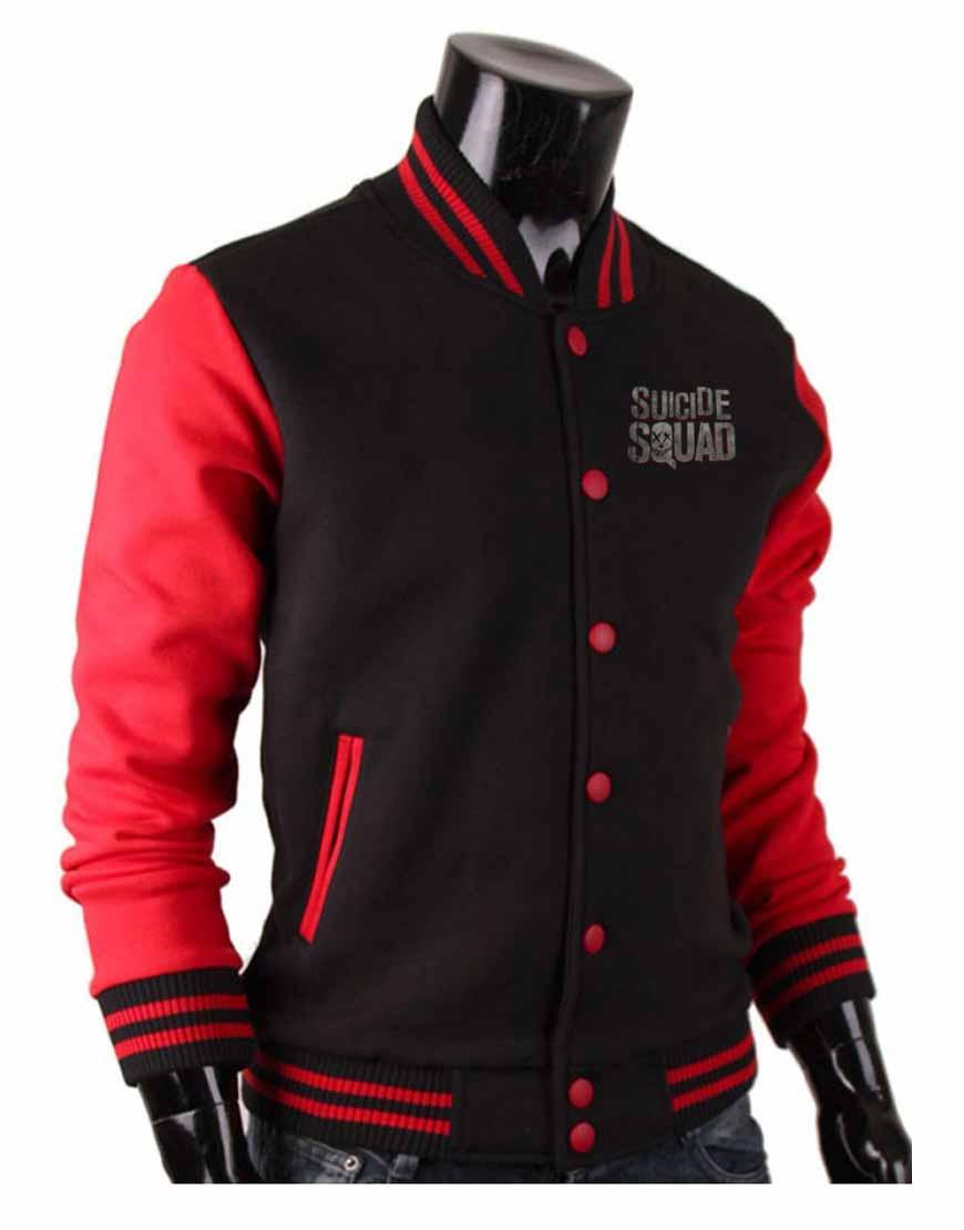 suicide squad letterman jacket