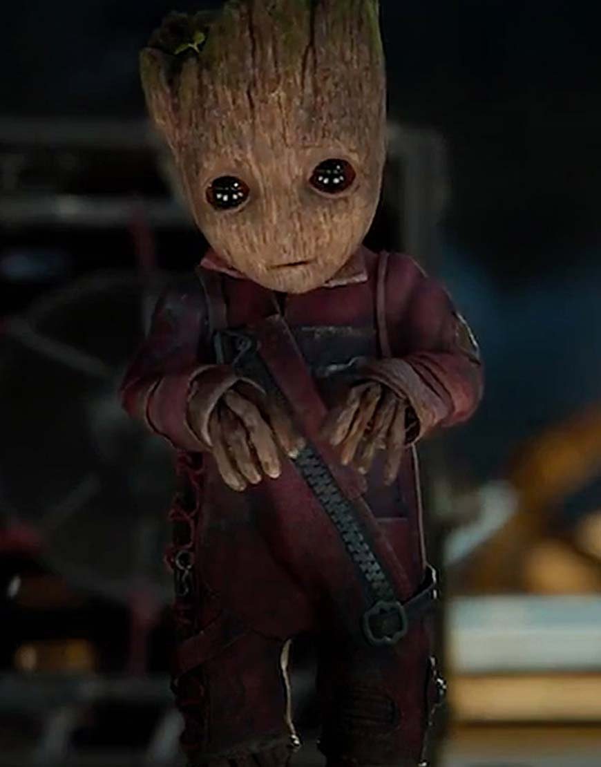 baby groot leather jacket