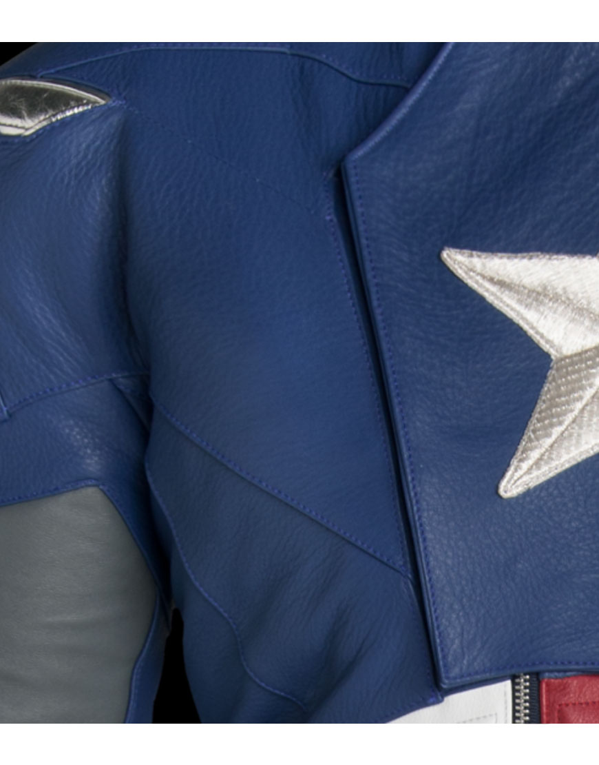 the avengers captain america leather jacket