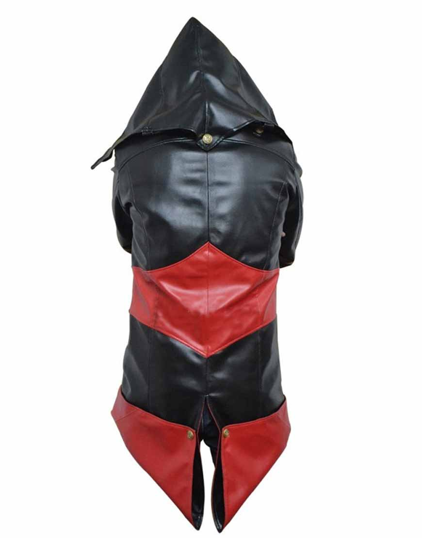 black and red assassins creed jacket