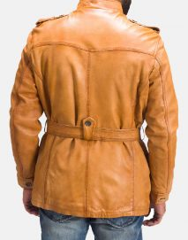 tan brown fur leather jacket