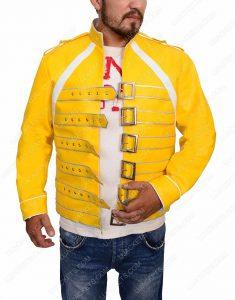 freddie mercury yellow leather jacket