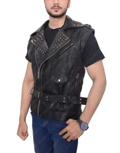 men's studded vest