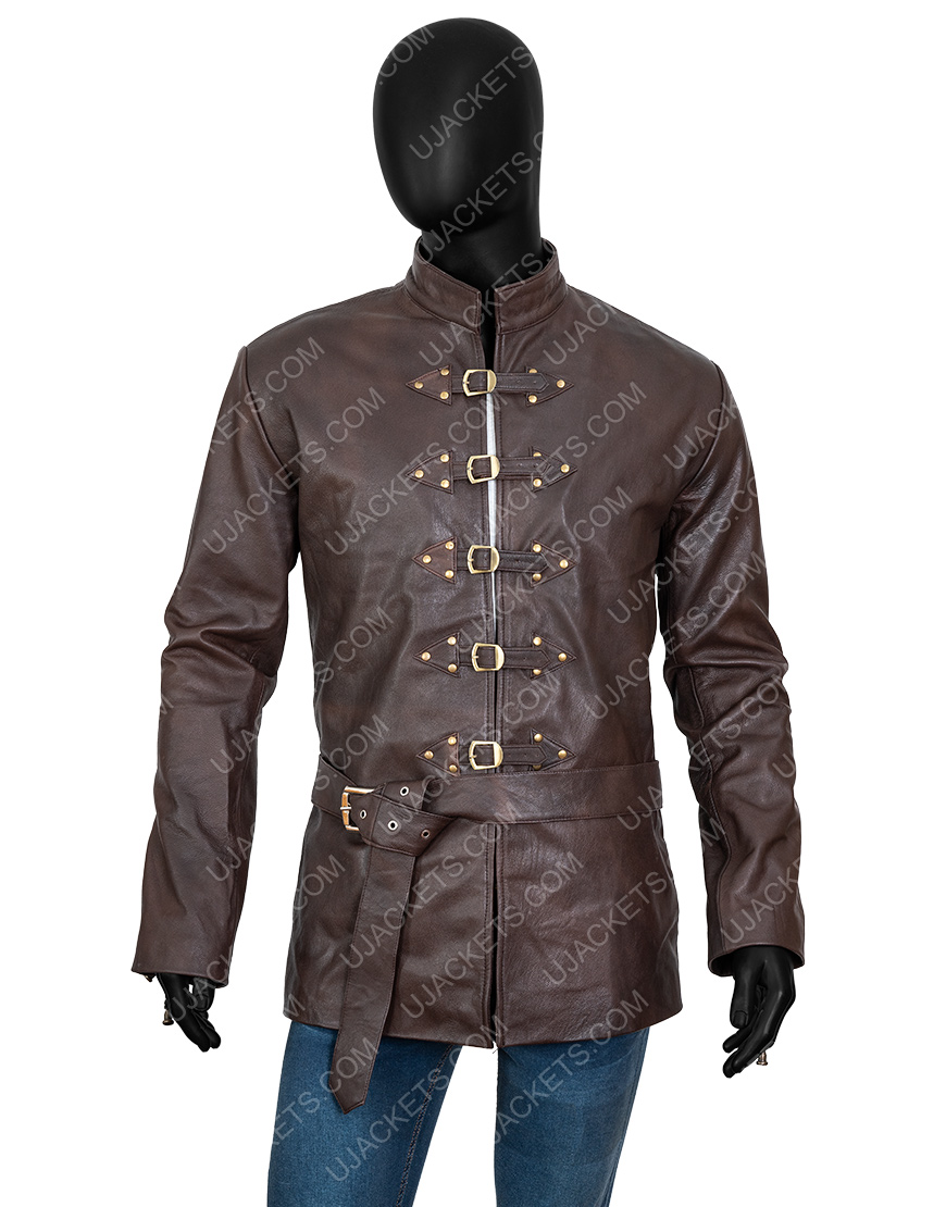 Game Of Thrones Brown Leather Bronn Jacket