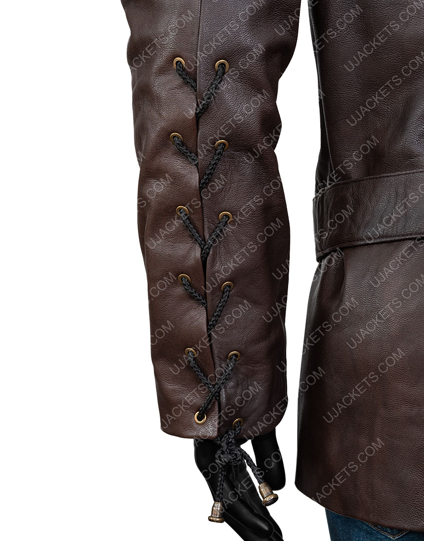 Jerome Flynn Game Of Thrones Bronn Brown Leather Jacket