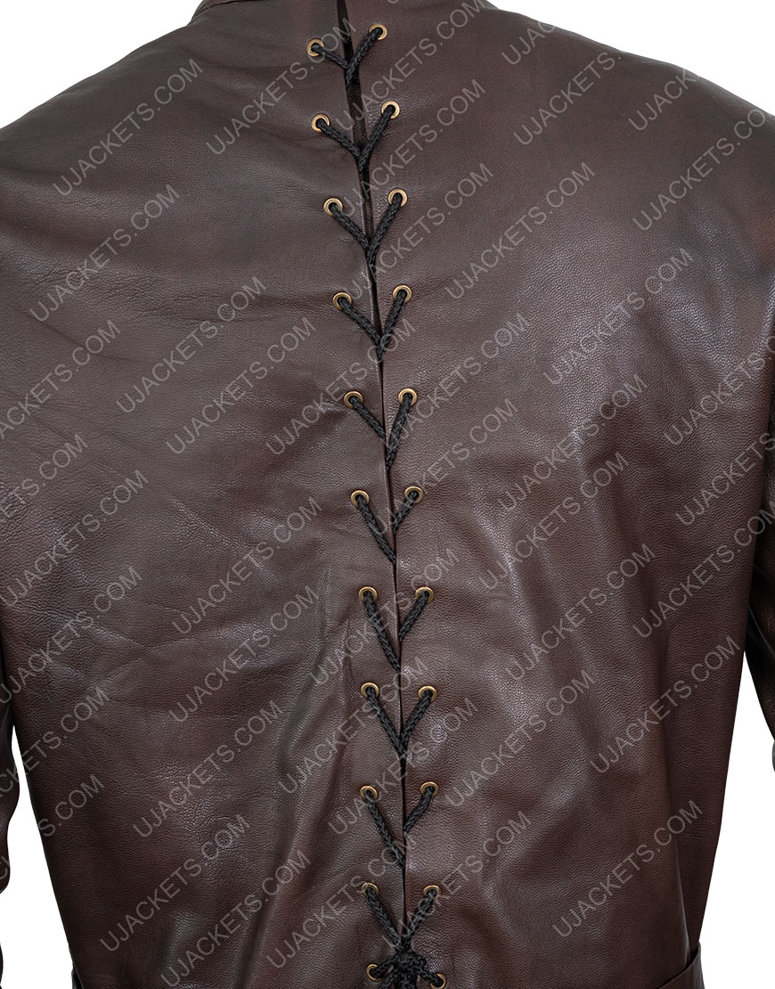 Jerome Flynn Game Of Thrones Bronn Leather Brown Jacket