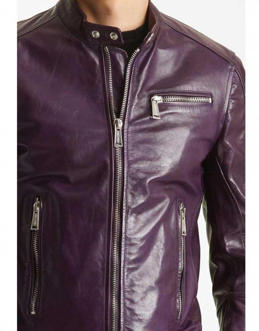 mens casual purple jacket