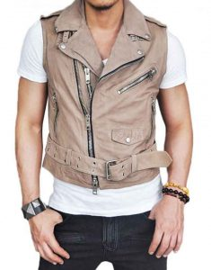 men's belted asymmetrical jacket