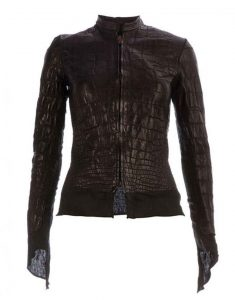 alligator leather jacket