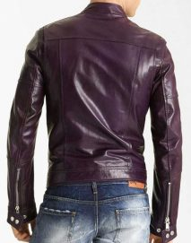 men's moto purple jacket