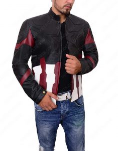 captain america infinity war lether jacket