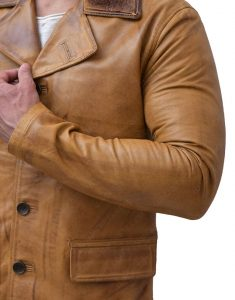 Brown Red Dead Leather Jacket