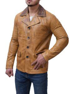 Brown Red Dead Redemption 2 BrownLeather Jacket